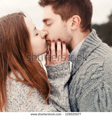 Couple Kissing Stock Images, Royalty.