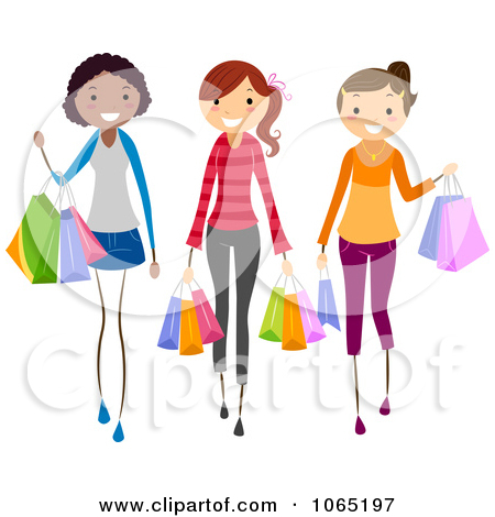 Young Girl With Friends Clipart.