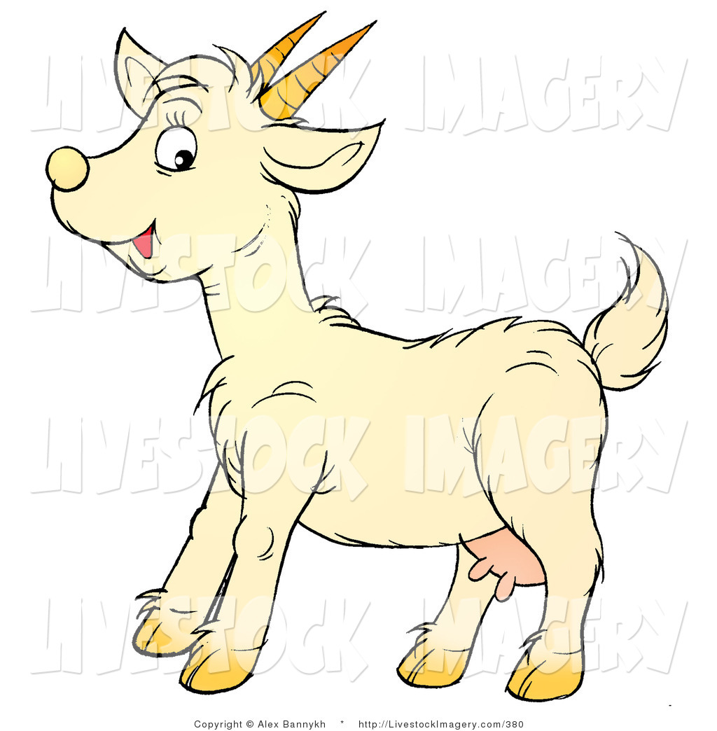 Goat and kid clipart.