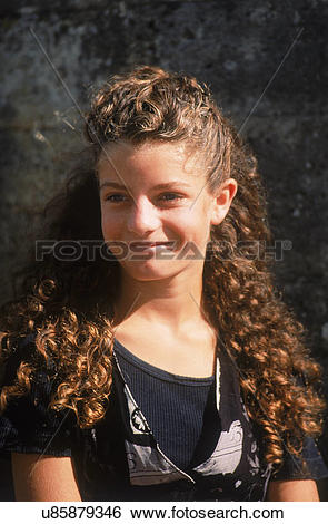 Stock Images of Young Gypsy girl from highly specific ethnic group.