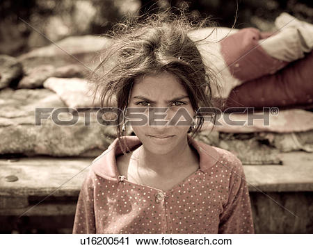 Stock Photography of Young gypsy girl in India u16200541.