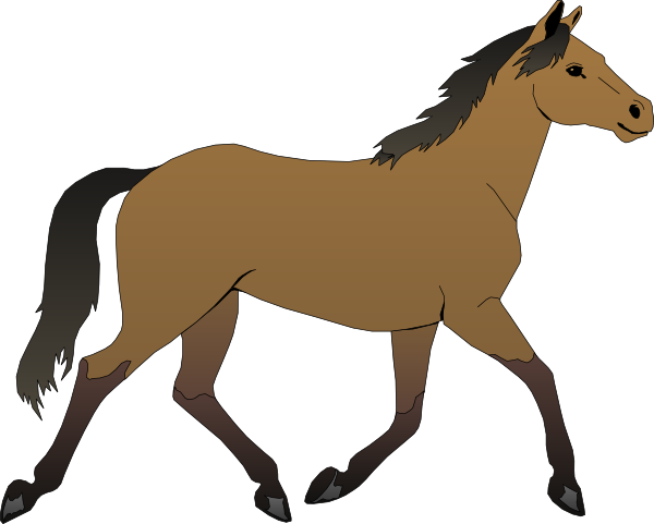 clip art of a young horse.