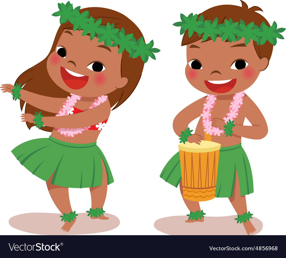 Little hula dancers.
