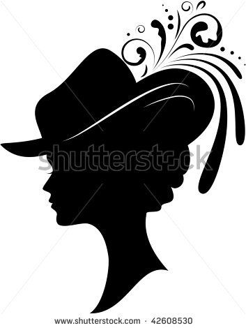 hat silhouette.