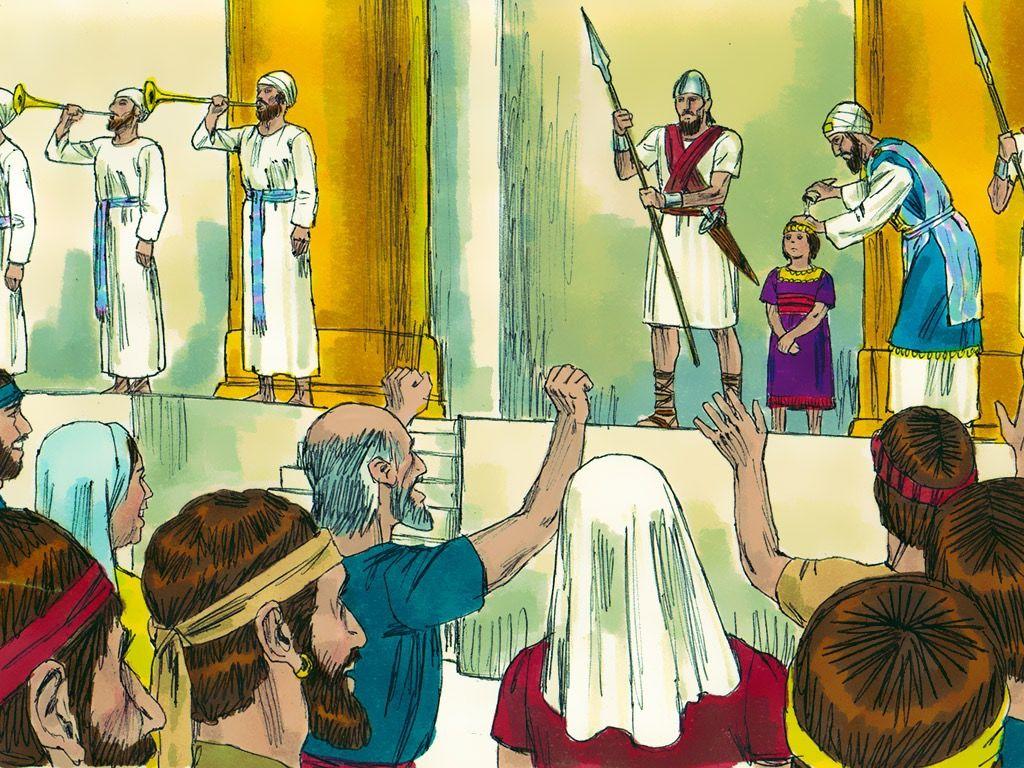 FreeBibleimages :: Joash the boy king :: Joash becomes king.