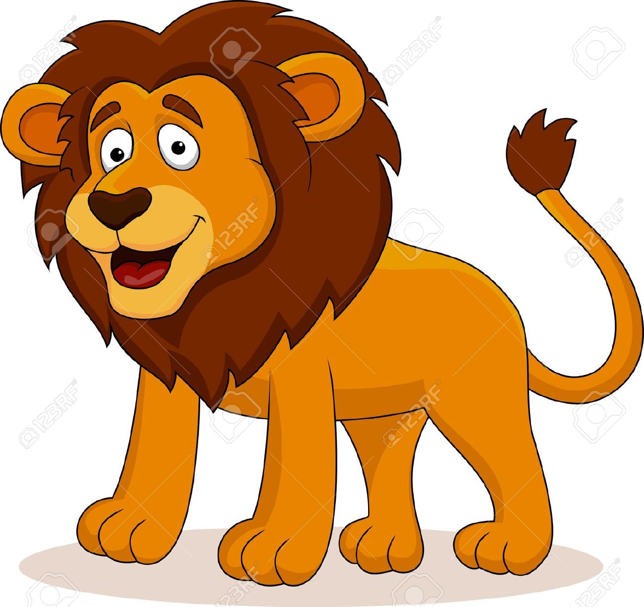 Funny lion clipart.