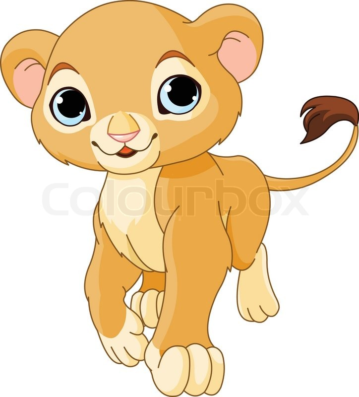 Walking Young Lion.