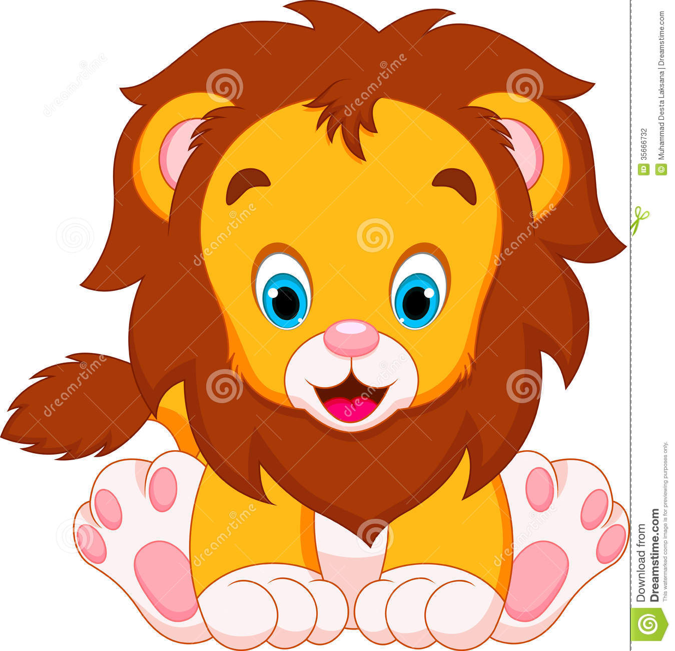 lion baby clipart #8