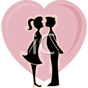 Young love clipart.