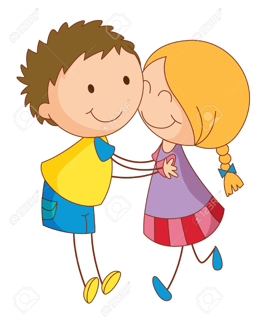 Illustration Of 2 Young Lovers Royalty Free Cliparts, Vectors, And.