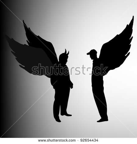 Man With Wings Stock Images, Royalty.