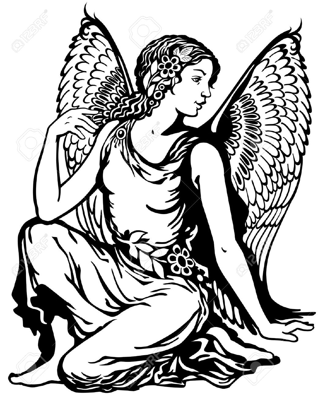 Angel Tattoo Stock Photos & Pictures. Royalty Free Angel Tattoo.