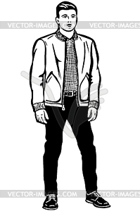 Young Man Clipart Black And White.