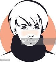 Asian Vector The Face of A Young Man stock vectors.