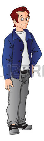 20,409 Young Man Standing Cliparts, Stock Vector And Royalty Free.