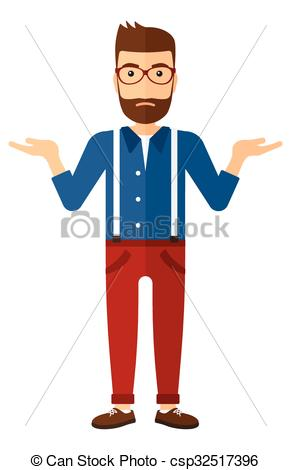 EPS Vectors of Man standing with open arms..