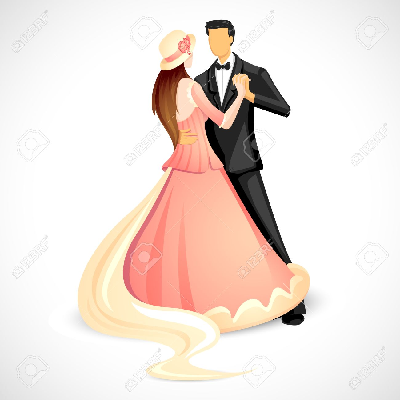 Newly Wed Couple Clipart.