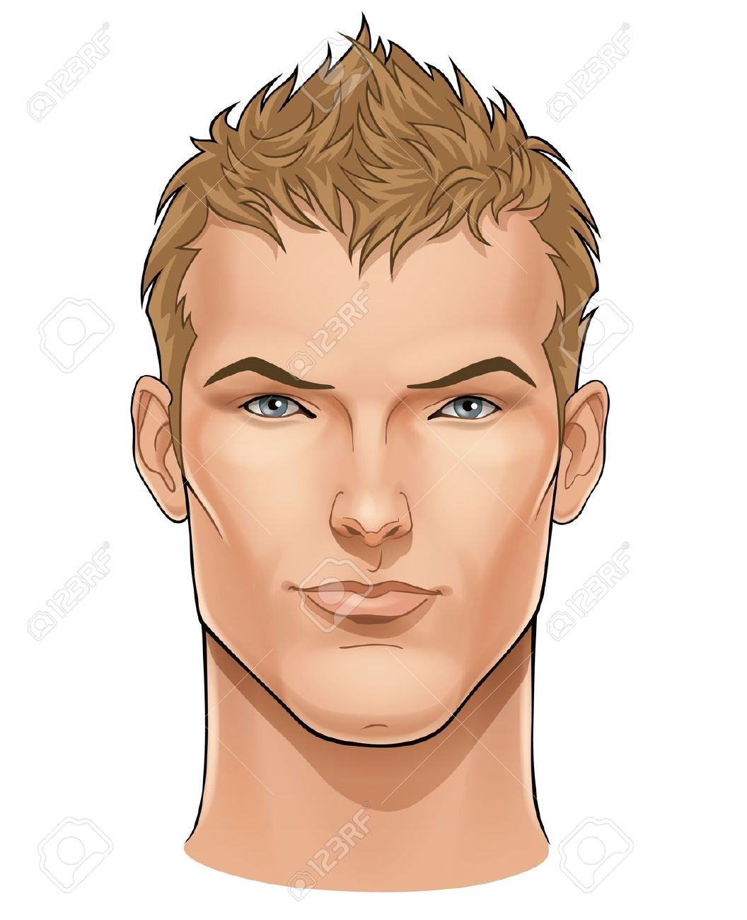 Good looking men clipart images.