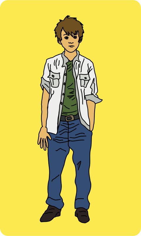 Free Clipart: Young Man Standing.
