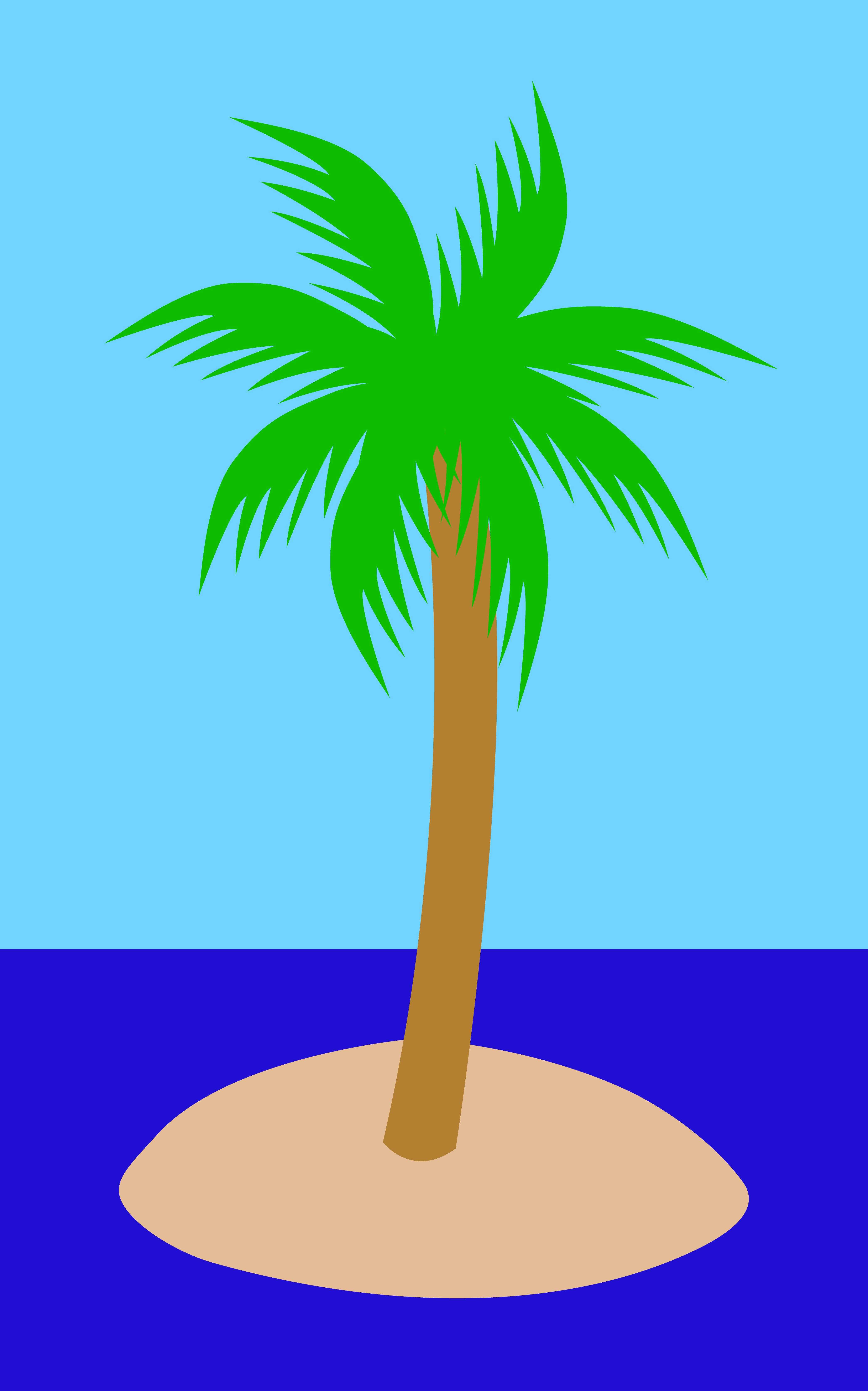 Palm tree ocean clipart.