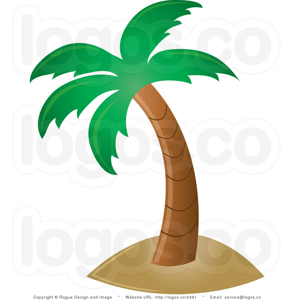 Hawaiian Palm Tree Clip Art.