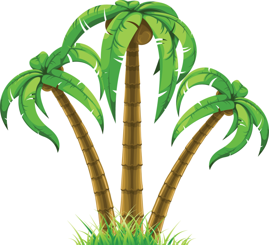 Palm trees clipart #5