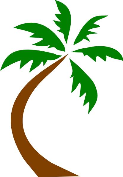Small palm tree clipart.