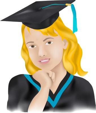 Graduation Portrait clip art.
