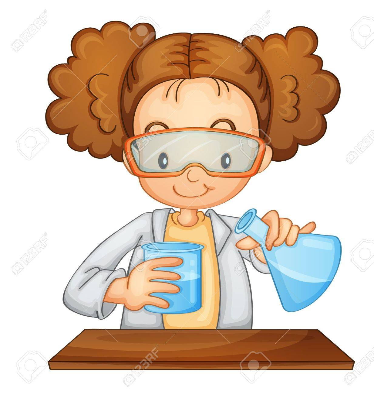 Illustration of a young scientist.