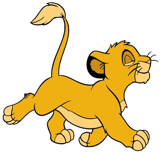 Young Simba Clip Art.