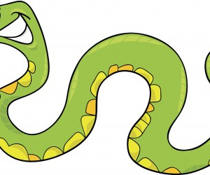 Cute Baby Snake Clipart.