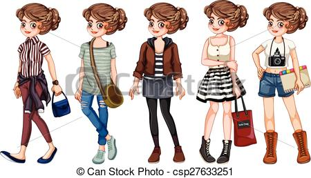 Clipart Vector of Young adult.