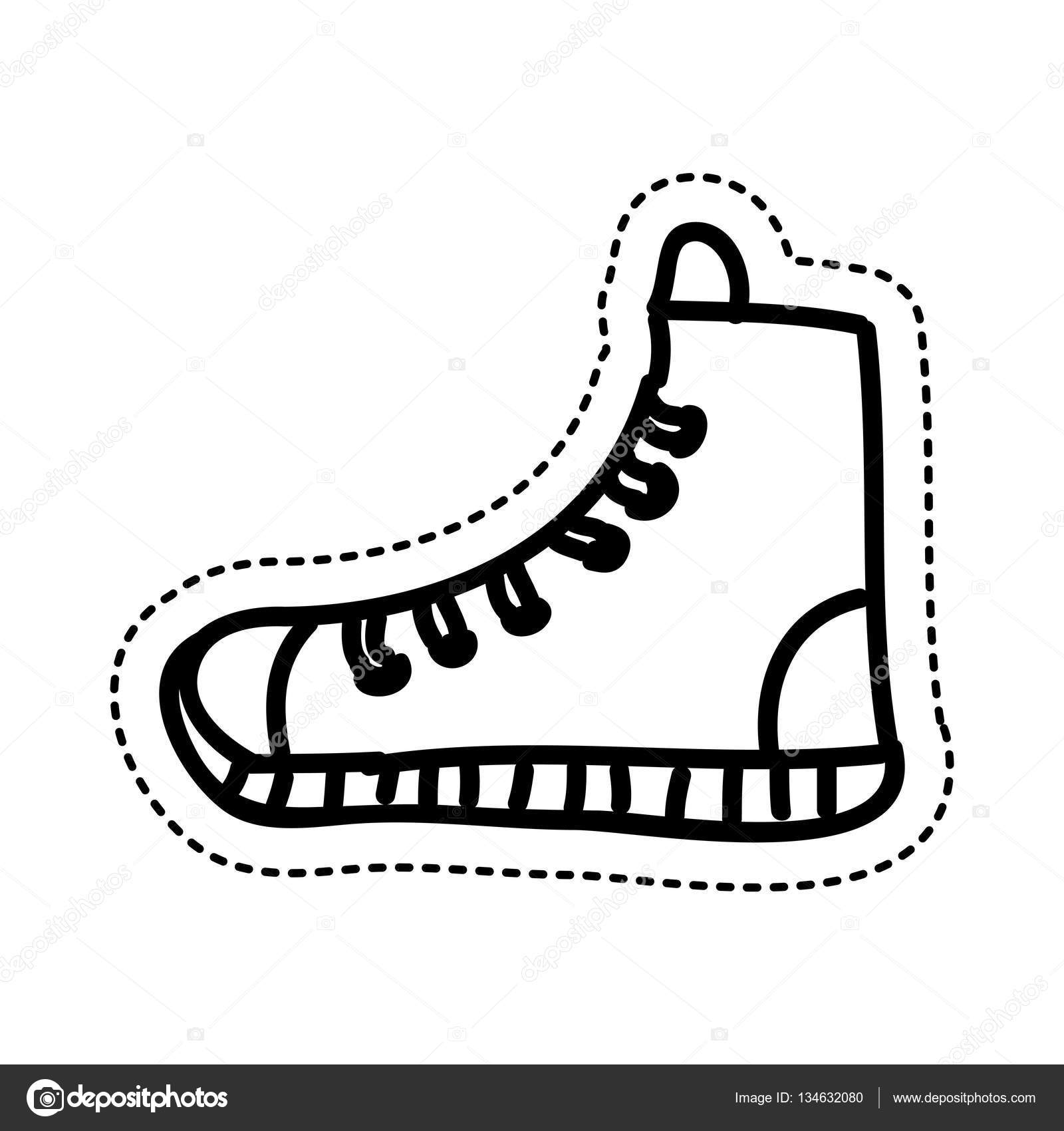 Shoe young style icon — Stock Vector © yupiramos #134632080.