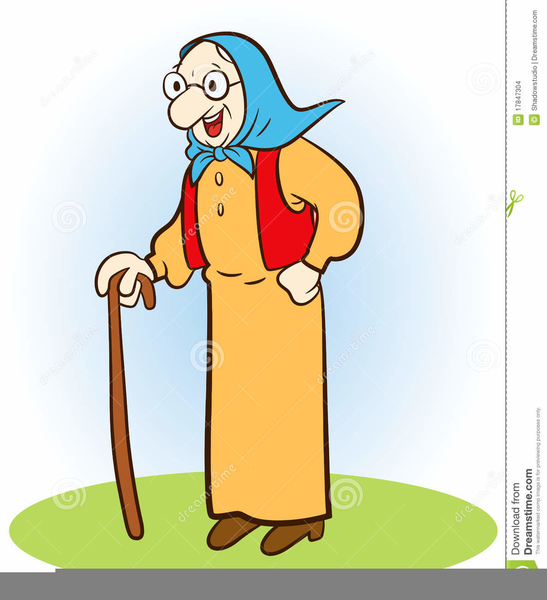 Download Free png Little Old Lady Clipart.