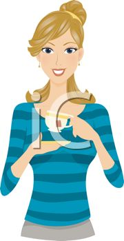 Young Woman Clipart.