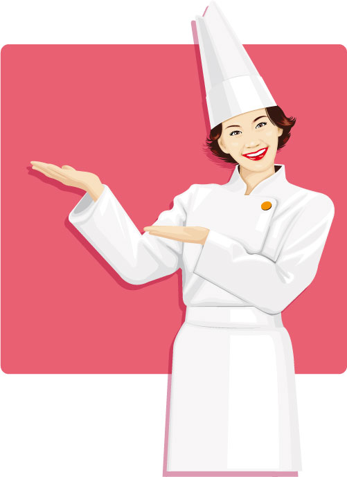 Woman cook clipart.