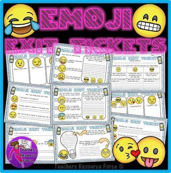 Emoji Exit Slip Tickets.