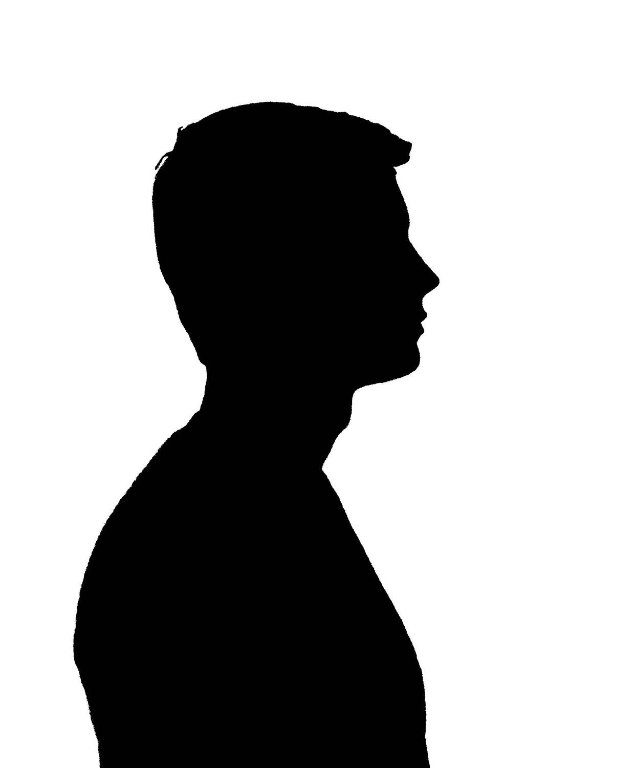 Silhouette Young Man.