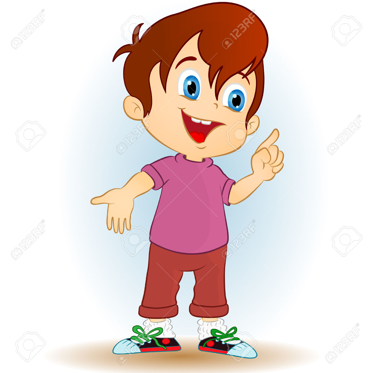 Young Boy On A White Background Royalty Free Cliparts, Vectors.