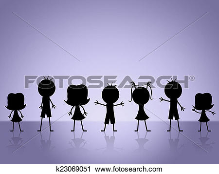 Clipart of Kids Playing Indicates Fun Youngsters And Leisure.