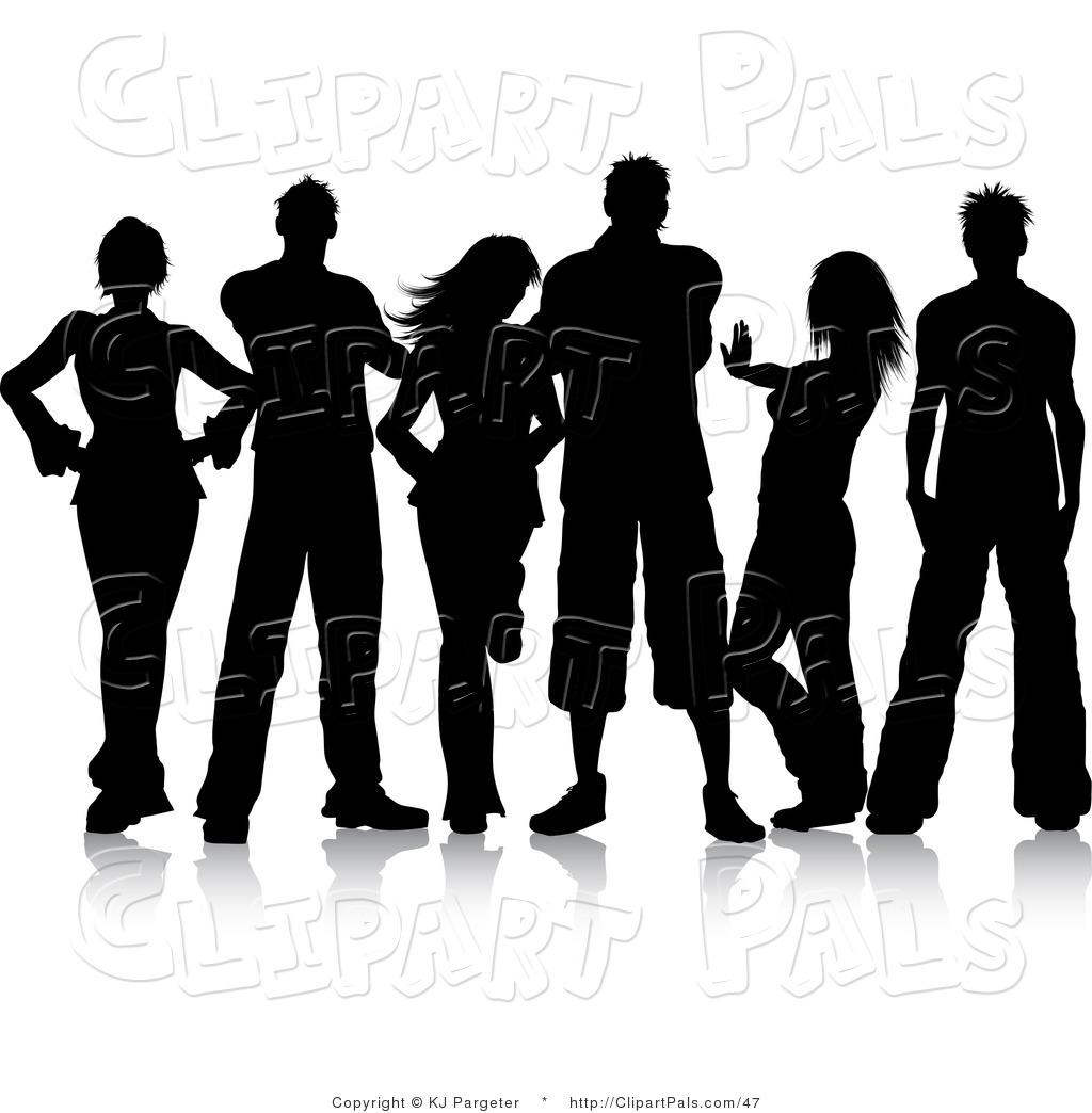 Royalty Free Stock Friend Designs of Youngsters.