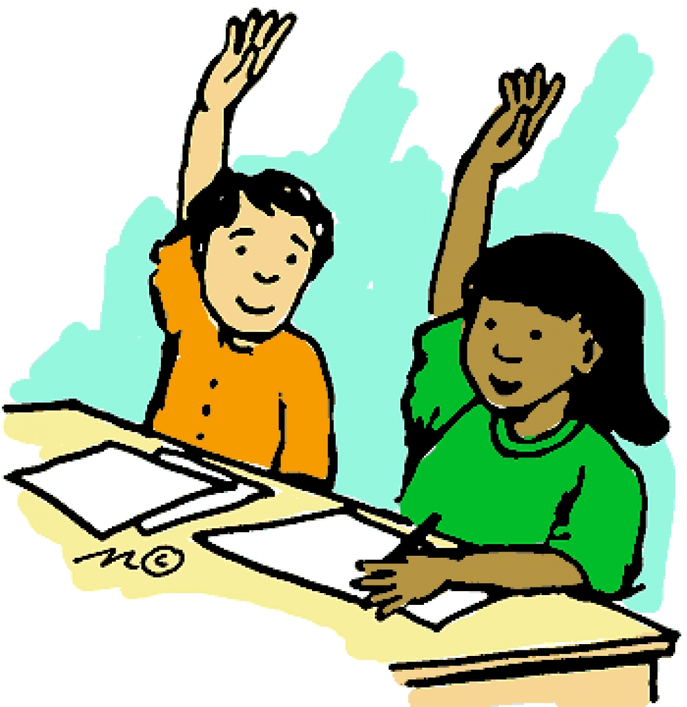 Raising your hand clipart.