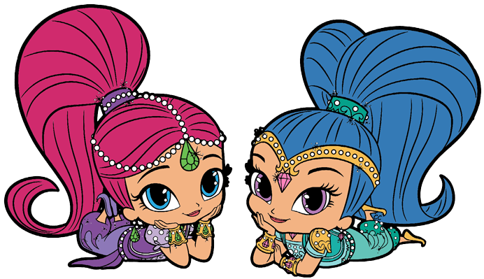 Shimmer, Shine free clipart in 2019.