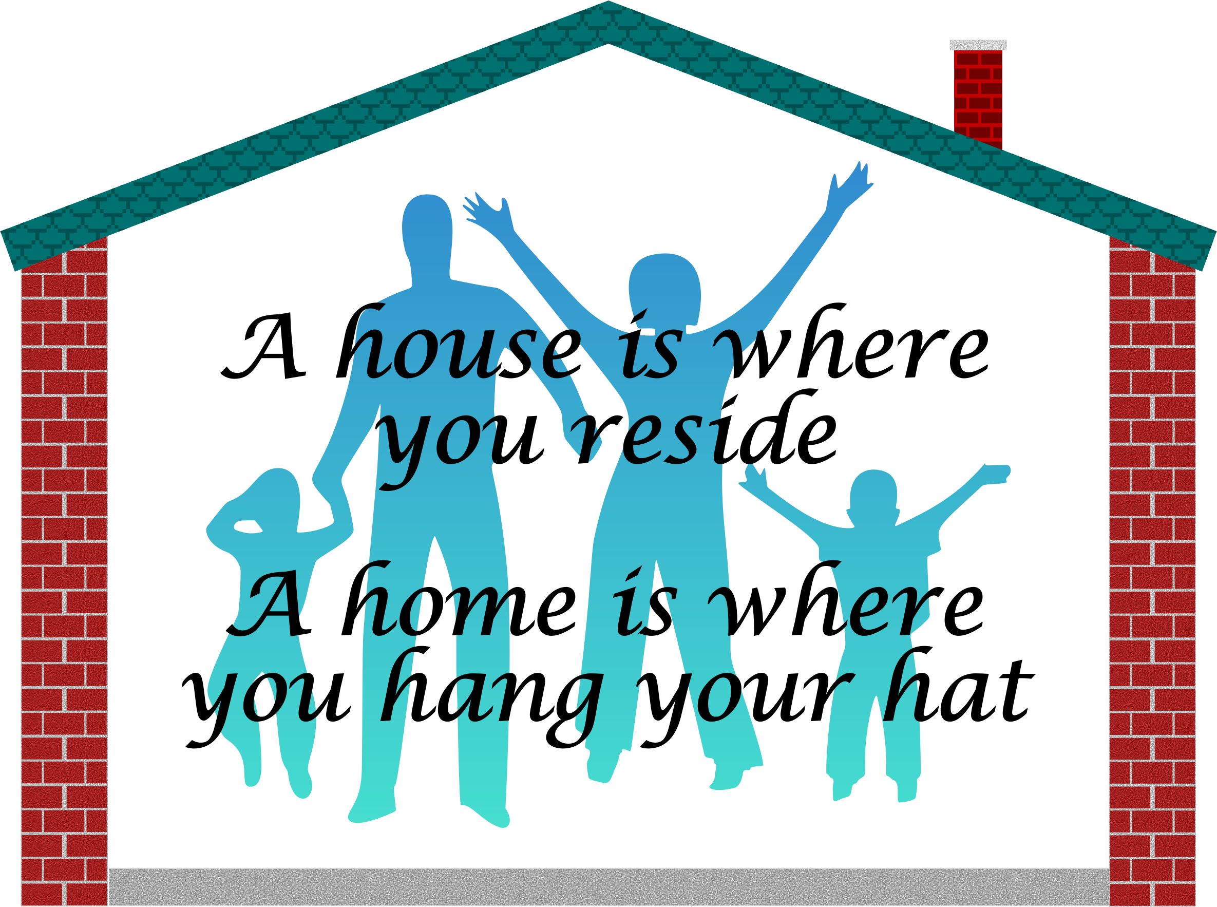 Family clipart home, Family home Transparent FREE for.