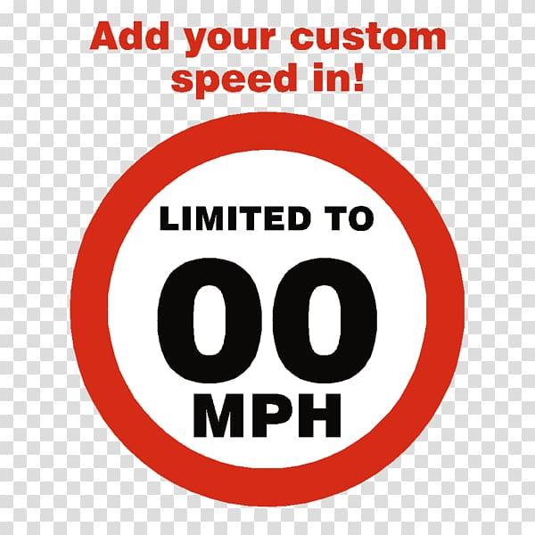 Sticker Signage Speed limit Label Miles per hour, speed.