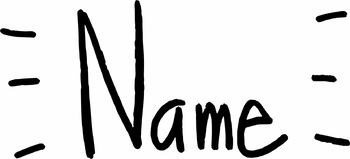 Freebie*** Name clipart by kinderModern.