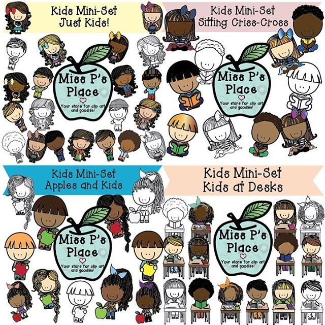 Kids Clip Art Set: In the Classroom [Miss P\'s Place.