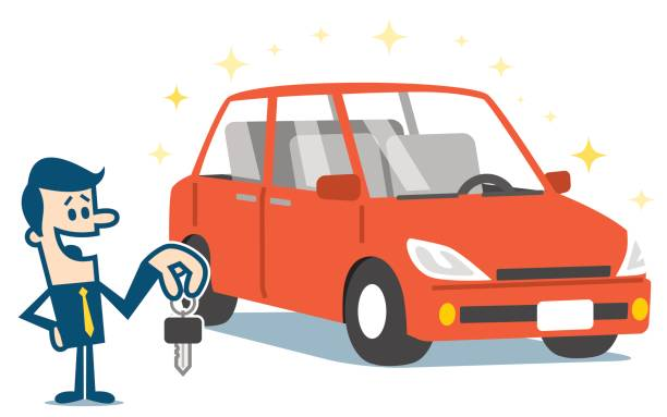 Man holding keys to his new car. » Clipart Station.