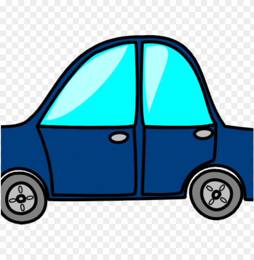 blue car clipart topview.