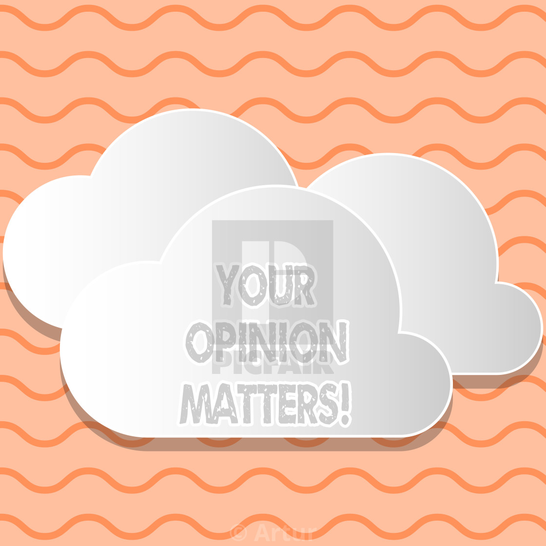 Writing note showing Your Opinion Matters. Business photo.